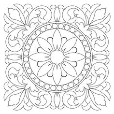 Tuscan block 6 (Sweet Dreams Quilt Studio) to drawing arms tuscan block 006 Stencil Patterns, Pattern Art, Embroidery Patterns, Quilt Patterns, Dot Painting, Ceramic Painting, Motif Arabesque, 3d Laser Printer, Coloring Pages Inspirational