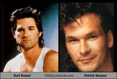 Kurt Russell & Patrick Swayze Kurt Russell, Patrick Swayze, Hollywood Stars, How To Look Better, Dancer, Handsome, Good Things, It's Raining, Celebrities