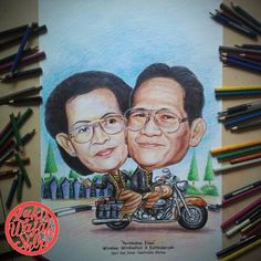 Jasa Karikatur Online | Art caricature Harley Davidson