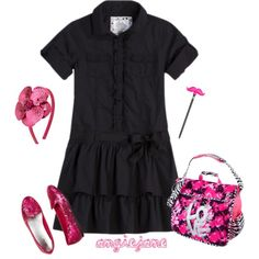 Add some sparkle to your daughters school uniform with these great finds. #schooluniform