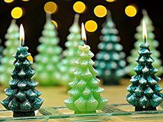 MINI WEIHNACHTSBAUM, Duftkerzen, Dekokerzen Weihnachtskerzen in verschiedenen Farben