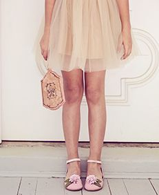 Joyfolie Opal dress with pink and gold Jasmine shoes
