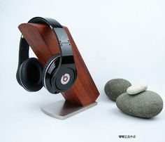 ★ Doodle ★ to still living museum - music ear [to the United States] mahogany the headphone frame Suanzhi headphone holder - Taobao