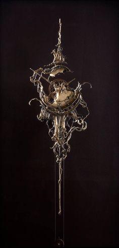 Twisted Twelve detail by ericfreitas on DeviantArt Steampunk Wallpaper, Clock Tattoo Design, Modern Magic, Dark Wallpaper Iphone, Cool Clocks, Clock Art, Steampunk Design, Character Aesthetic, Dieselpunk