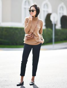 Turtleneck + Trousers + Loafers-Timeless Outfit Formulas You Should Definitely Know via @WhoWhatWearUK