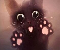 ImageFind images and videos about cute, cat and kawaii on We Heart It - the app to get lost in what you love. Pet Anime, Anime Animals, Cute Baby Animals, Animals And Pets, Chat Kawaii, Kawaii Cat, Cute Animal Drawings, Cat Wallpaper, Cat Stickers