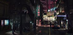 Neuromancer: Chiba City Streets by Andrew Porter