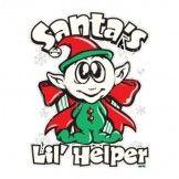 Santa's Lil Helper Elf Heat Transfer Design
