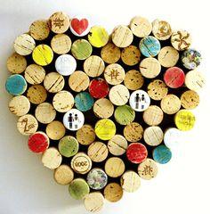 Love Cork Board Wine CorkBoard Wedding Message Center por uncorked