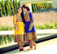 latest yellow and blue pathani frock style dress designs 2017