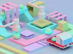 3D Factory Illustration. You can print it from my Society6 Store. https://society6.com/seph1603