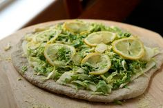 Brussels Sprout Pizza #dinner #lunch #sprouts Junk Food, Spinach, Tacos, Lemon, Pizza, Lunch, Brussels Sprouts, Dinner, Vegetables
