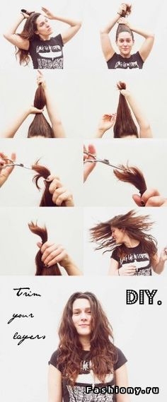 This crazy way to cut hair is truly something you need to see to ponytail techniques simple cuts and colors for beginning diy ers solutioingenieria Image collections