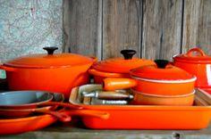 vintage Le Creuset in Flame (orange / red) #clemengold #gathering #lecreuset