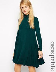ASOS PETITE Turtleneck Swing Dress