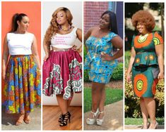 Check out these top 14 trendy ankara skirt and blouse styles for plus size women below and you'll never have an excuse not to look good again. Have fun! Ankara Skirt And Blouse, Ankara Dress, African Print Fashion, Fashion Prints, Pretty Patterns, African Wear, Ankara Styles, Blouse Styles, Maternity Fashion