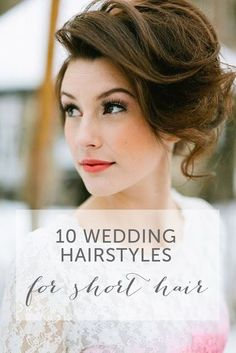 There is just something about brides with short hair that give off a chic, stylish and sophisticated vibe. Here are 10 ways to rock a short hairstyle on your wedding day: www.mywedding.com...