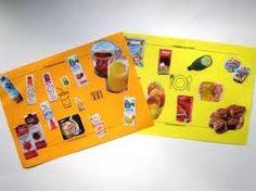 Leuk idee: kinderen mogen uit tijdschriften eten knippen wat zij lekker vinden.