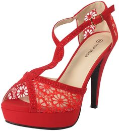 Top Moda Hy-5 Open Toe Crochet High Heel Sandals * Don't get left behind, see this great  product - Lace up sandals