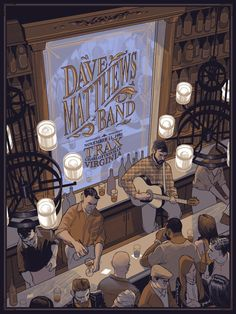 Dave Matthews Band Poster Charlottesville 2016 by Rich Kelly Pop Posters, Concert Posters, Gig Poster, Music Posters, Dave Matthews Band Posters, Music Images, Him Band, Bernie Sanders, Art Prints