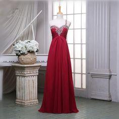 High Quality 2016 Chiffon Long Prom Dresses One