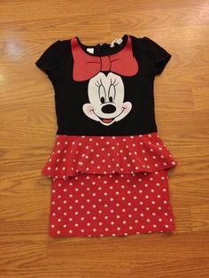 NWT DISNEY Store Parks Minnie Mouse Dress Girls SZ S,M