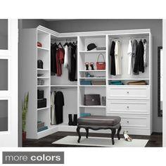 Versatile by Bestar 108-inch Corner Closet Storage Kit | Overstock.com Shopping - The Best Deals on Closet Storage