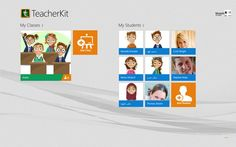 TeacherKit // is a simple and intuitive interface that enables teachers to track attendance, manage their students and classes. TeacherKit allows teachers to manage attendance by importing or adding students to classes along with their personal photos or by assigning one of TeacherKit's interesting avatars. Teachers can manually add students' status with color code such as late, sick…etc. They can also pinpoint certain classes or favorite students for quick access on the start menu.