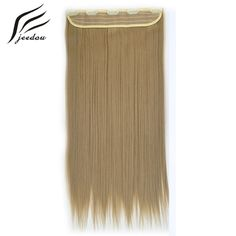 jeedou Clip In Hair Extension High Temperature Synthetic Natural Hairpiece Ash Blonde Hair For European Women Ash Blonde Hair, Clip In Hair Extensions, Synthetic Hair, Hair Pieces, Wigs, Natural, Women, Tick Insect, Hair