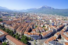 """Grenoble ~ located in the """"heart"""" of the Isère valley, in the middle of three mountain groups: (the Chartreuse, the Vercors & the Belledone)."""