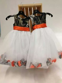 Orange Flower Girl Dress