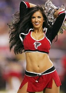 The Atlanta Falcons Cheerleaders were once known as the Falconettes, who were the official cheerleading unit of the NFL's Atlanta Falcons franchise. Hottest Nfl Cheerleaders, Football Cheerleaders, Football Girls, Atlanta Falcons, Cheerleading, Professional Cheerleaders, Fantasy Football, Female Athletes, Sport Girl