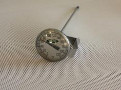 Stainless steel dial thermometer, measures 0 - 220 degrees F. face with stem. Comes with a stainless steel clip to attach to your pot or vat. Cheese Making Supplies, Milk And Cheese, Artisan Cheese, Cheese Cloth, How To Make Cheese, Wax, Instruments, Dairy, Musical Instruments