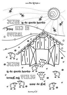 Opwekking 431: Jezus is de goede herder.. veel kleurplezier!