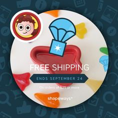 Free shipping until September 24th on orders over $25 in my Shapeways store! 3d-printed jewellery designs and ceramics are available, new designs coming soon!