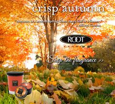 As the leaves turn and the air cools, revel in the essence of fall with Crisp Autumn now 20% off during our Annual Autumn Sale! Shop your fall faves in stores and online at rootcandles.com!