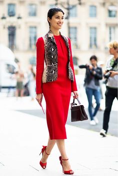 Red Dresses to Wear Through Holiday Season and Beyond via @WhoWhatWear