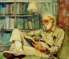 """Hombre leyendo"". John Singer Sargent (1856 – 1925) American artist."