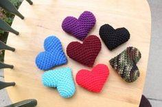 Puffy hearts! PATTERN ADDED :) - CROCHET