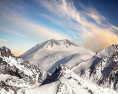 Mount Elbrus (Russia), highest peak in Europe.