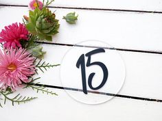 Acrylic table number signs for wedding Round table number