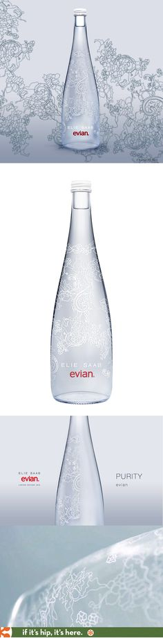 evian and Elie Saab release limited edition bottle for 2014