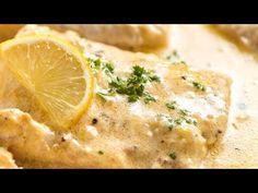 Recipe: Baked fish with lemon cream sauce.- Recipe: Baked fish with lemon cream sauce. Shrimp Recipes, Meat Recipes, Asian Recipes, Baking Recipes, Diner Recipes, Lemon Cream Sauces, Lemon Butter Sauce, Fish Recipes With Lemon, Lemon Fish