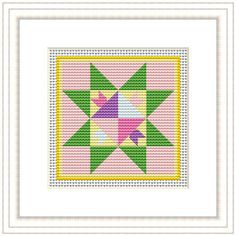 April Quilt - Cross Stitch Pattern by SoggyToadCreations on Etsy