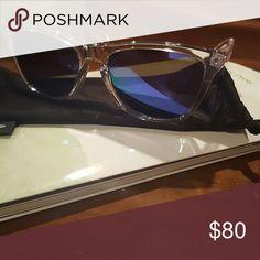 Oakley frogskins Clear frame violet lense never worn oakley Accessories Sunglasses