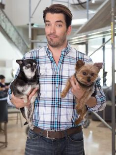 Jonathan Scott With His Dogs