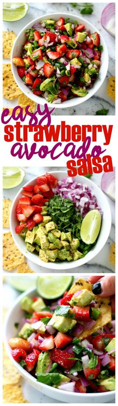 Easy Strawberry Avocado Salsa is fresh, tasty and addicting. It's the perfect appetizer to bring to cookouts, picnics or parties! And works great as a topping too.