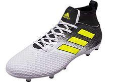 f3b0e5167 adidas ACE 17.3 FG Soccer Cleats - White & Solar Yellow |  SoccerMaster.com