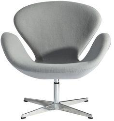 fauteuil swan anne jacobsen 1957 58. Black Bedroom Furniture Sets. Home Design Ideas