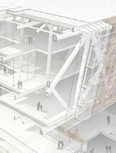 【周三福利日】那些厉害死的剖面图切割手法 | 建筑学院